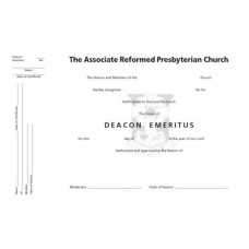 Certificate of Deacon Emeritus
