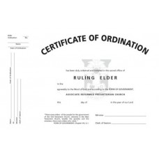 Certificate of Elder Ordination