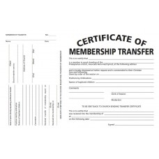 Certificate of Membership Transfer