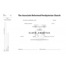 Certificate of Elder Emeritus