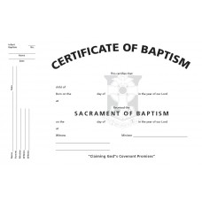 Certificate of Infant Baptism